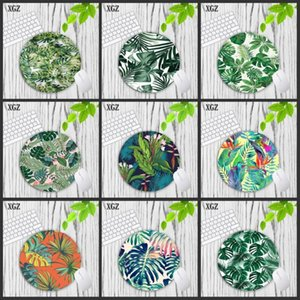 XGZ Tropical Plant Garden Gaming Mousepad Wholesale Gamer Speed Mousemat Pads PC Computer Desk Mice Keyboard Play Mats 20X20CM