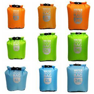6L 12L 24L Portable Durable Waterproof Dry Bag Pack Sack Outdoor Sport Swimming Sailing Storage Bag