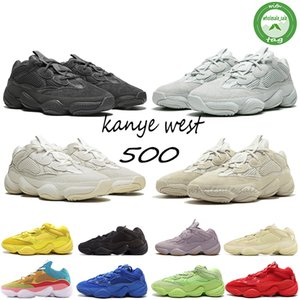 Nuova Vision Soft 500 Stone Bone Bone Scarpe da corsa bianche Mens Womens Super Moon Giallo Utility Black Blush Sale Sale Kanye West Stylist Street Sneakers Sport