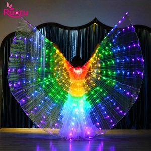 Rainbow Color Alas Winkel Led Flügel Erwachsener Led Kostüm Zirkus Led Licht Luminous-Kostüm-Partei anzeigen Isis Flügel Tanzkleidung
