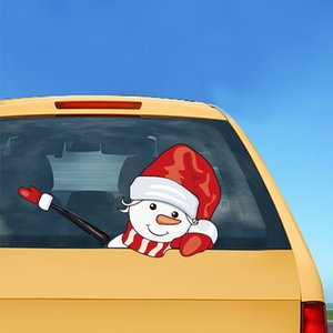 حار بيع سانتا جديدة ممسحة ملصقات زخرفة سيارة عدة سانتا ملصقات ممسحة ملصقات للماء واقية من الشمس