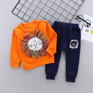 Kids Clothes autumn Baby Boys Costume Cartoon lion infantil Tracksuit Tops Pants 2PCS set Children Boy Outfits girls Set