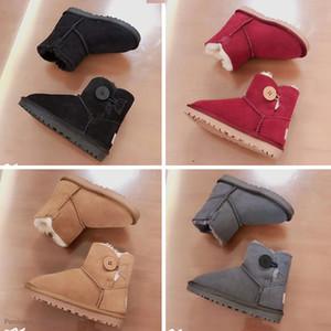 UGG boots cours d'exécution cheerUG Australie classique enfants chaussures Ug bottes de neige top mode enfant fille hiver qualité Gardez la cheville de taille chaude 26-35