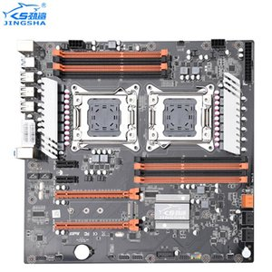 Jingsha X79 CPU dual-mãe LGA2011 SATA3.0 ATX 8 Channel DDR3 X79 duplo Motherboard Gigabit Ethernet Até 25