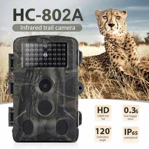 새로운 사냥 카메라 HC802A 16MP 1080P 야생 동물 트레일 카메라 사진 트랩 적외선 야생 동물 무선 감시 추적 캠 Drqz 번호