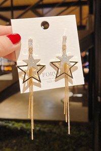 Exaggerated Pentagram Earrings 2020 New Fashion Elegant Internet Influencer Long Tassel Earrings Earrings for Women