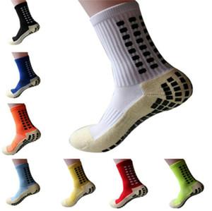 New Sports Anti Slip Football Football coton hommes chaussettes Calcetines (du même type que le Trusox)