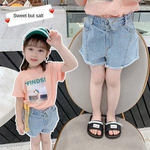 Wear Mädchen modische Jeans-Shorts 2020 Sommer der neuen Kinder im Freien Hot Pants und Abnutzungsjeans Jeans Kinder Baby
