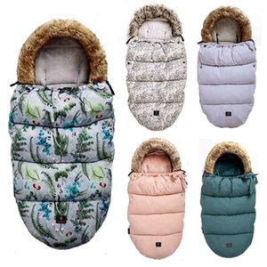 Top Brand Baby Stroller Sleeping Bag Winter Warm Sleepsack Windproof For Infant Wheelchair Envelopes For Footmuff 200925