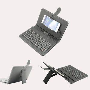 cgjxs Cgjxs Mobile Phone Teclado Teclado Android Mobile Phone Wired externa Holster Universal Mini Keyboard bate-papo bom ajudante