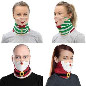 Moda mágica bufandas Feliz Navidad decorativa cuello polaina reutilizable cubierta lavable Cara Máscara Pañuelo Ciclismo Meryl 6 5 gm C2