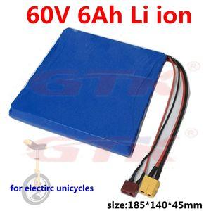 GTK 60v 6Ah 16s2p 18650 agli ioni di litio per i260 \ T260 \ T350 monociclo elettrico di skateboard motorino