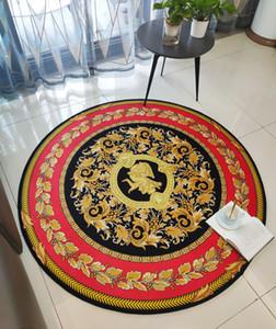Ronda diseñador dormitorio alfombra alfombra de prueba guardarropa silla de la computadora alfombras de las esteras de la cesta almacenar fotografías de larga duración ropa espejo Y01 nórdica