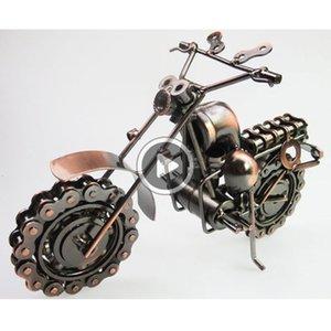 De gran tamaño andmade arte del hierro del metal del color ronze estilo retro Arley motocicleta Motorike Autoike Modelo juguetes para los niños de los hombres irtday regalo Valente