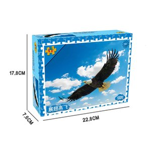 Flying eagle Jigsaw Puzzles 1000 Pieces Puzzle Toys Adults Children Paper Assembling Picture Landscape Games Educational Toy