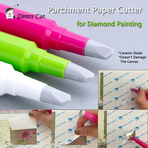 Diamond Painting Parchment Paper Cutter Ceramic Blade to Cut the Cover Perfectly DIY 5D Painting with Diamonds Tools Accessories C0926