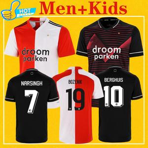 Feyenoord 2021 fútbol casero Jersey camisa ausente Berghuis FER JORGENSEN Narsingh BOZENIK 20 21 Hombres Kit Niños calidad de Tailandia del fútbol