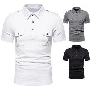 Mens manga curta machos Polos de Moda de Nova Polos Verão Casual Sports Tees Designer slim Collar