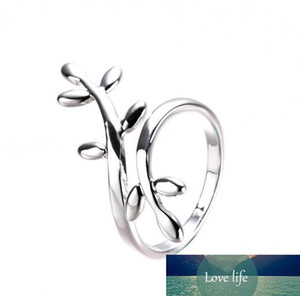 Wholesale New Personality Exquisite Leaf Leaves Surround Silver Korean Design Fashion Rings Jewelry Alloy Cheap Free shipping