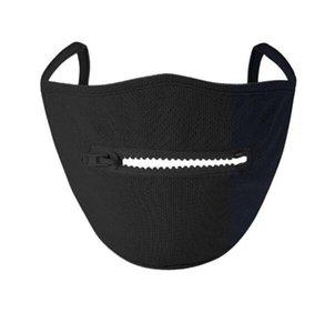 Máscara Top Fa Vendedor criativa Zipper Den fácil de beber Wasale Ering Protective Dener Máscaras Anna