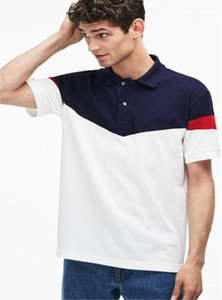 Short Sleeve Striped Stampato Mens Polo Casual Designer Adolescente Tees Crocodile Mens Polo Lapel Neck