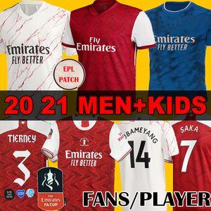 Fans Player MEN + KIDS Arsen soccer jersey 20 21 PEPE SAKA NICOLAS CEBALLOS GUENDOUZI SOKRATIS MAITLAND-NILES 2020 2021 football sets