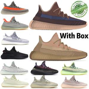 2020 New West Kanye 3M Белые кроссовки Светоотражающей Статическая Черный Мужчины Женщина Zebra Pink Ice Blue спорт Повседневная обувь 36-45 с коробкой
