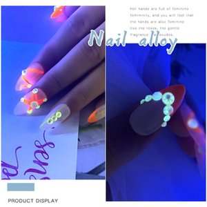 Luminous Fluorescent Diamonds Nail Stickers Glowing Designs Nail Decoration DIY Manicure Art Tools