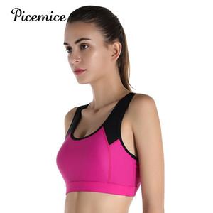 Picemice Factory Direct Women Sport Bra Shockproof No Bounce Quick-dry High Performance Top Yoga Running High Strength Nylon Bra