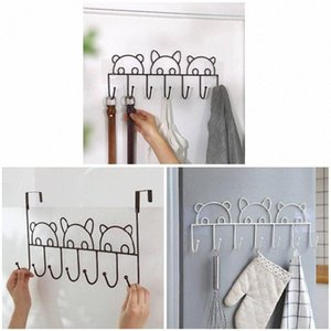 Hot Metal Hook No Drill Space Saving Clothes Rack Organizer for Home Bathroom XJS789 fx9C#