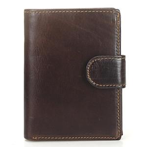 Men Retro Wallets Real Genuine Leather Purse Storage Short Fashion Card Holder Male Billetera Coin Pocket Vertical Leather Bag