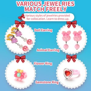Fancy Children crystal ring Girl jewelry box series variety style Children's jewelry storage box Girl birthday Gift