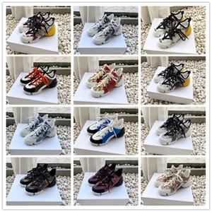 Dolce&Gabbana Dolce Gabbana Shoes 19SS Moda B21 B22 zapatillas de deporte Calcetines CONNECT florales zapatillas de deporte de la plataforma Botas Zapatos Pour Hommes US4.5-9