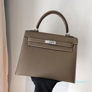 New Classic Fashion Designer Shoulder Bags Designer Bolsas Tote Bolsa Crossbody Bag de alta qualidade Epsom Couro Mulheres Clutch Bag 25 centímetros L26