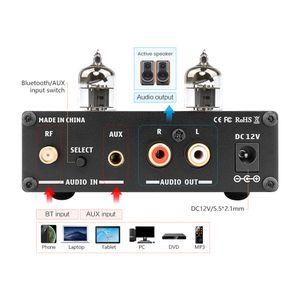 Freeshipping HIFI Bluetooth 5.0 6J1 tubo de vacío amplificador Preamplificador Preamplificador AMP Con Graves Agudos Ajuste de sonido Para el hogar Teatro