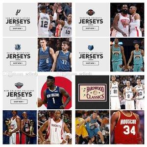 Männer Jugend NBASouthwest SprSRoketsMavericksPelicansGrizzlies 12 Morant 77 Docic 13 Harden All Style Jersey Short
