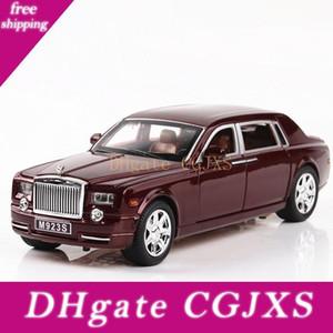 1 :24 Diecast Alloy Car Model Rolls Royce Phantom Metal Toy Car Wheels Simulation Sound Light Pull Back Car Collection Kids Gift