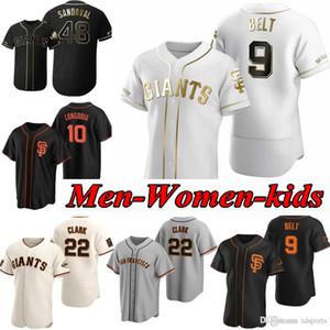 San Francisco 2020 Giants Buster Buster Posey Baseball Jersey Brandon Crawford Kevin Pillar Yastrzemski Longoria Belt Jersey Men Donne Gioventù 05
