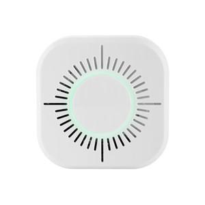 433MHz Kablosuz Duman Dedektörü Yangından Korunma Taşınabilir duman dedektörü wifi Ev Güvenliği Güvenlik alarmı Sensörü Beyaz