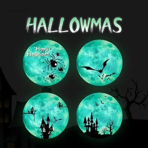 Luminous Moon Wall Sticker For Kids Room Halloween Decoration Sticker Luminous Castle Wall Decal Bedroom Glow In The Dark Stickers