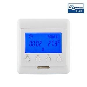 control de la temperatura de calefacción eléctrica del termostato Z-Wave más EU868.42MHz inteligente temperatura