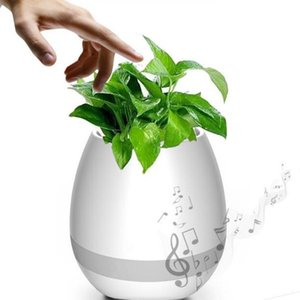 Free Dhl Creative Music Vase Smart Music Flowerpot Wireless Bluetooth Speaker K3 Intelligent Plant Piano Music With Colorful Led Night Light