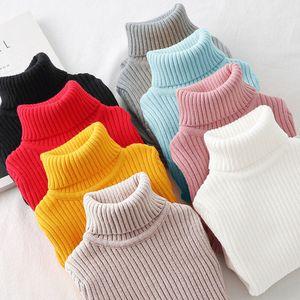 Teenager Jungen Mädchen Pullover Winter Warme Kinder Jungen Pullover Strick Pullover Baby Mädchen Pullover Oberbekleidung Kleidung 100-160cm LJ200818