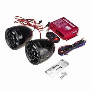 Anti-Diebstahl-Wireless-Alarm für Motorrad DC 12V Motorrad-Roller-Lautsprecher-Musik-MP3-Player-Motor Audiosystem FM Radio Stereo usFO #