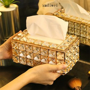 Acrylic Crystal European Style Tissue Box Cosmetic Tissue Box Handkerchief Cage 190x110 X100mm For House, Office