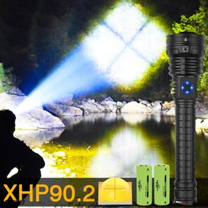 Drop Shipping xhp90.2 most powerful led 5 Modes usb Zoom led torch xhp90 18650 or 26650 battery lamp Camping Hunting