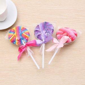 Популярного Frontline Корейского Стиль группы Стиль Lollipop красочного волосы веревка голова канатные спортивного фитнес головной убор Спорт Фитнес волосы Lollipop