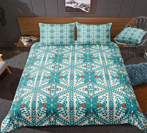 Blue Bedding Set Striped Duvet Cover Set Leaves and Flowers Bedclothes Modern Bed Linen Boy Girl Home Textile Microfiber Bed