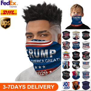 US STOCK Radfahren Masken Schal Unisex Bandana Motorrad Magie Schal Face Shield Kopftuch Hals-Gesichtsmaske Außen Trump 2020 Wahl