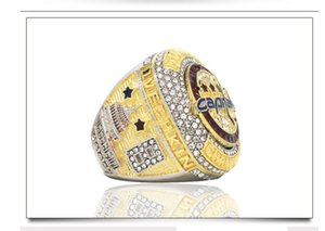 up-market 2pcs lots 2018 year diamond crystal gold men's collection ring size 9-12